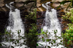 Nay Aug Falls - Original vs HDR