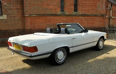 executive car(0.0), mercedes-benz 450sel 6.9(0.0), sports car(0.0), automobile(1.0), automotive exterior(1.0), vehicle(1.0), performance car(1.0), mercedes-benz r107 and c107(1.0), mercedes-benz(1.0), compact car(1.0), antique car(1.0), sedan(1.0), classic car(1.0), land vehicle(1.0), luxury vehicle(1.0), convertible(1.0),