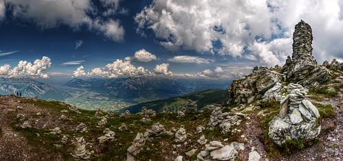 schweiz switzerland view suisse ostschweiz stack aussicht svizzera rheintal rockstacking wanderung rhinevalley pizol 5lakes 5seen