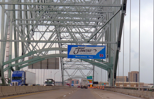 Tennessee Welcome on the Hernando-Desoto Bridge