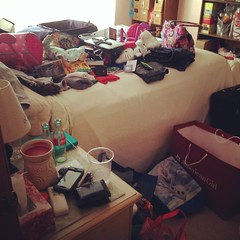 Tell me this mess will pack itself. Right?? #summer #roadtrip #sweethomecolorado