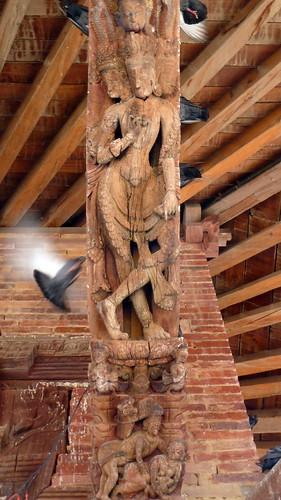 Nepal- Kathmandu - Jagannath Temple - Erotic Wood Carvings - 8
