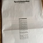 New York Times Sports Section Front Page Is Saving Ink