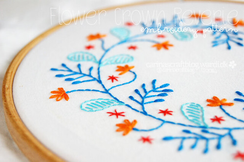 Flower Crown Reverie embroidery pattern