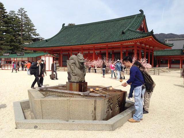 A chōzubachi of Heian jingu shrine
