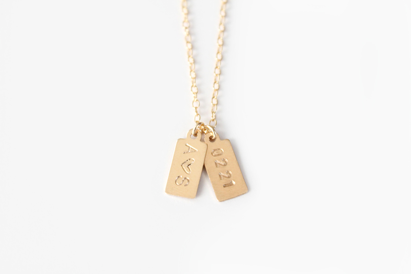 Gold Tags Necklace