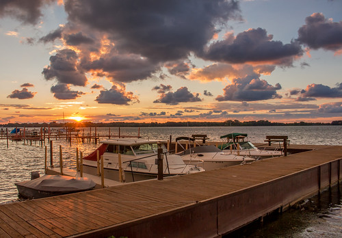 sunset ohio lake water clouds boat dock lakeerie ottawacounty eastharbor kmsmith