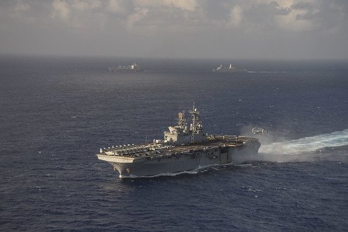 HONG KONG (NNS) -- Amphibious assault ship USS Makin Island (LHD 8), along with the embarked 11th Marine Expeditionary Unit, arrived in Hong Kong for a port visit.