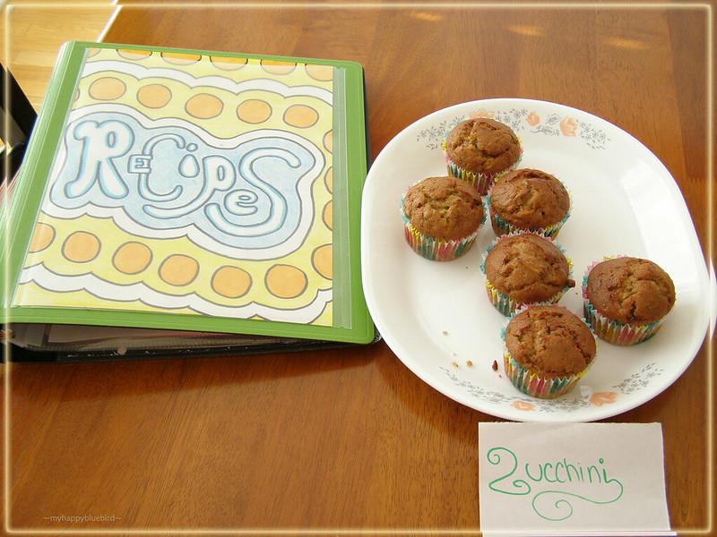 ~ zucchini muffins...