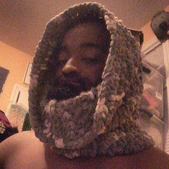#justfinished this gray blend chenille cowl #crochet for thw fall/winter $25 #style #fashion #forsale #winteriscoming #swag