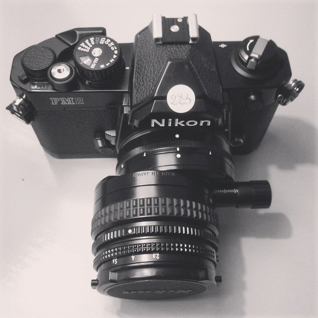 Nikon FM2N with PC-Nikkor 35/2.8