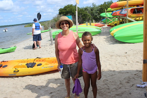 Bethany Beach - Coastal Kayak - Denise and Mya on Shore