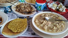 Ployes, Poutine, And Chicken Stew