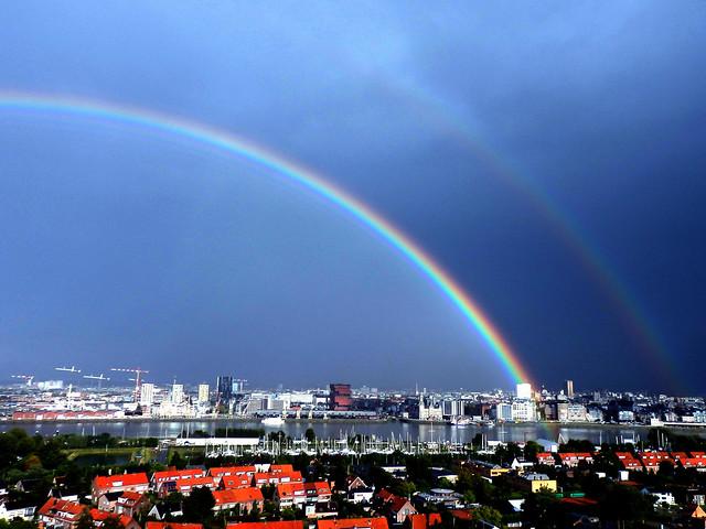 Double Rainbow - Panorama (Antwerp - Belgium)
