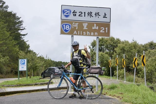 新中橫單車挑戰成功留影