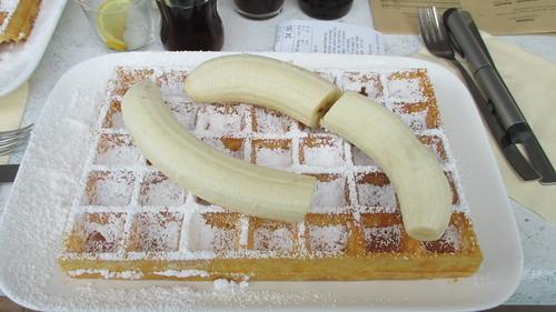 Silversand - wafel met banaan