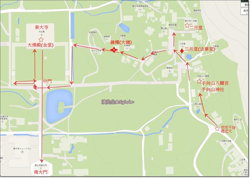 東大寺路線圖