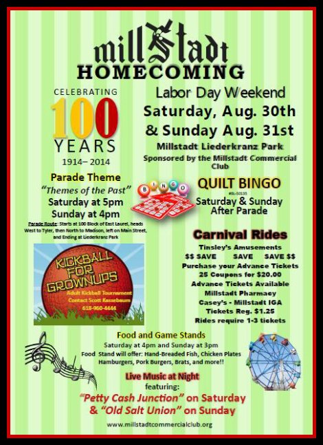Millstadt Homecoming 8-30, 8-31-14