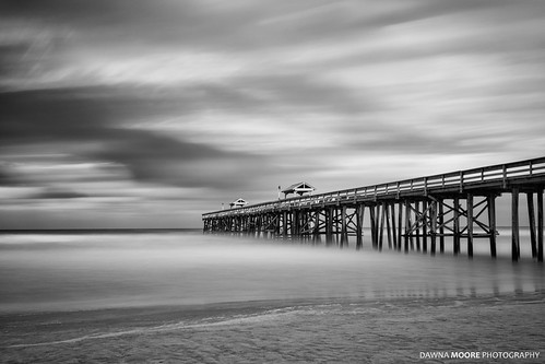 ocean longexposure travel blackandwhite usa seascape beach horizontal clouds coast pier big sand unitedstates artistic florida 10 smooth nopeople stop filter coastline fernandinabeach stopper ameliaisland northeastflorida