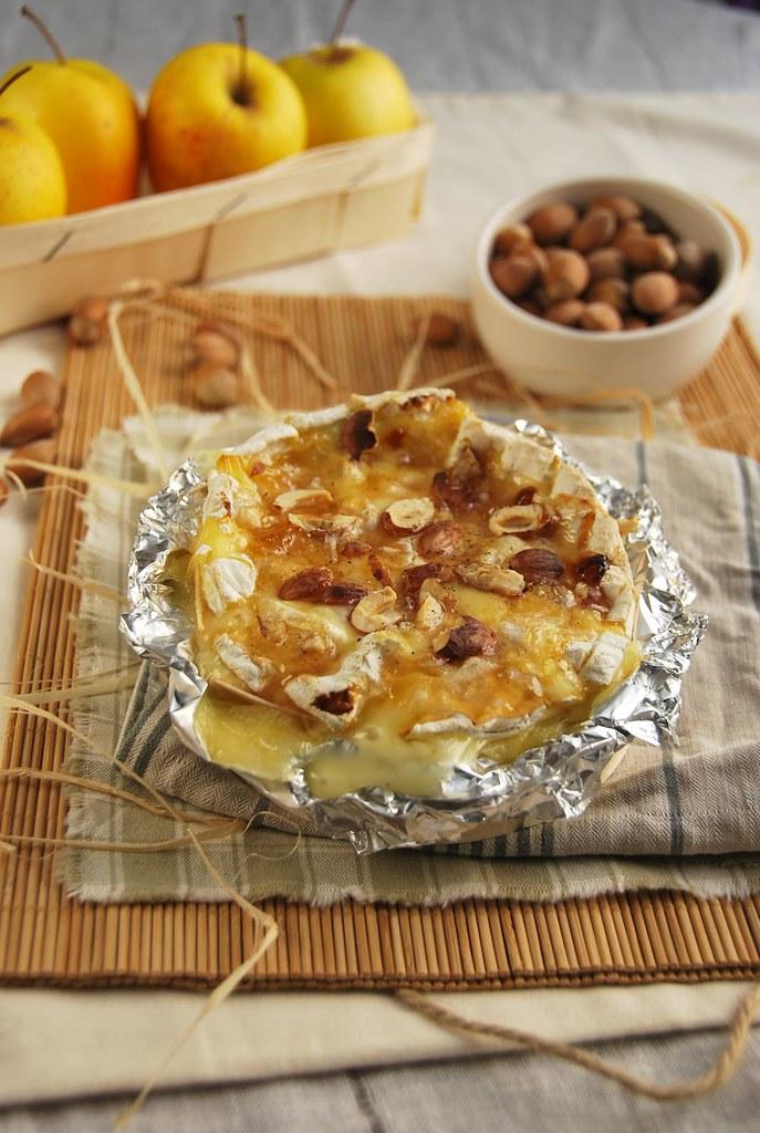 camembert rôti aux pommes