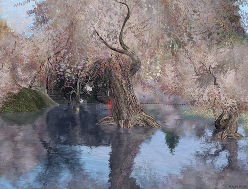water reflections landscape sl secondlife virtualworld morgananagorski