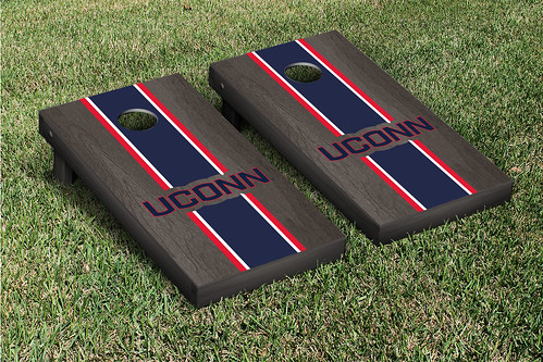 Connecticut UCONN Huskies Cornhole Game Set Onyx Stained Version