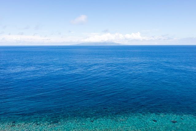 御蔵島からの景色