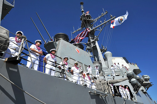 PEARL HARBOR (NNS) -- The U.S. Middle Pacific Naval Fleet received two new additions as the guided-missile destroyers USS Preble (DDG 88) and USS John Paul Jones (DDG 53) arrived to their new homeport of Joint Base Pearl Harbor-Hickam (JBPHH) from San Diego.