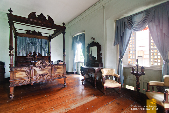 Bedroom at Syquia Mansion in Vigan City