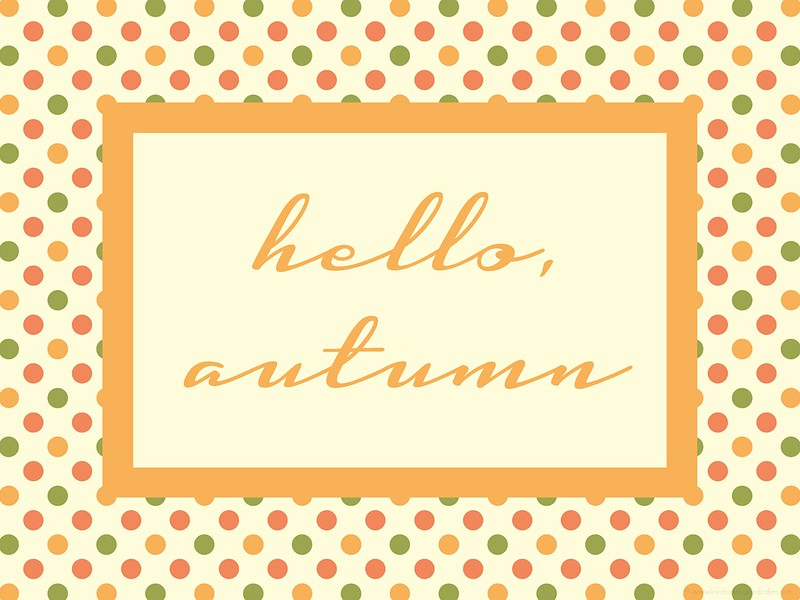 Welcome Autumn with this {FREE} Hello, autumn printable (8x10) #free #printable #fall #autumn