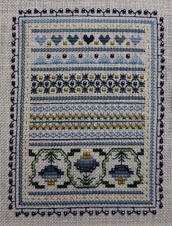 Periwinkle Promises-Blue Bell Sampler Accent
