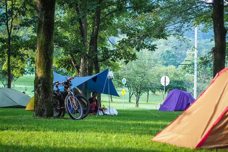 The excellent Honbetsu Campground, Hokkaido, Japan