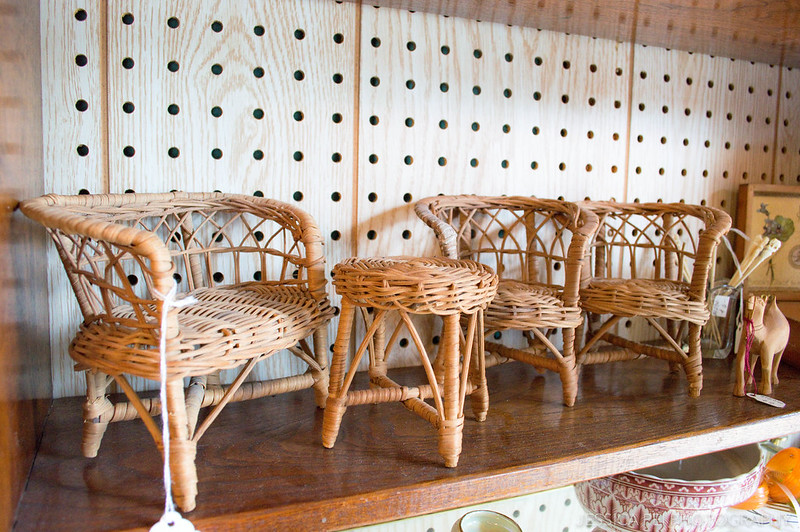 wood wicker chairs decoration