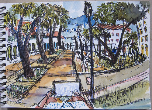 Fish-eye view sketch of Paraty, Brazil