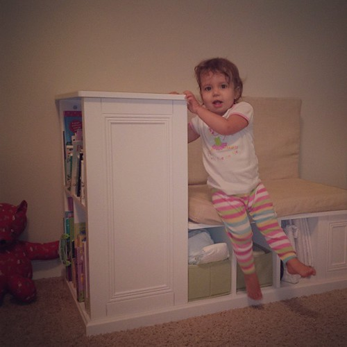 Got rid of the changing table in favor of this genius piece of furniture