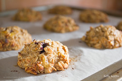 Banana Oat Blueberry Biscuits