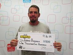 Jerrad Barbosa - $1,500 Idaho Bingo