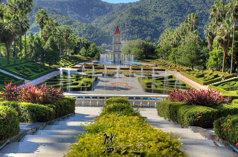 [泰雅渡假村] 泰雅歐式花園-鐘樓水舞-親子公園~仿如凡爾賽花園