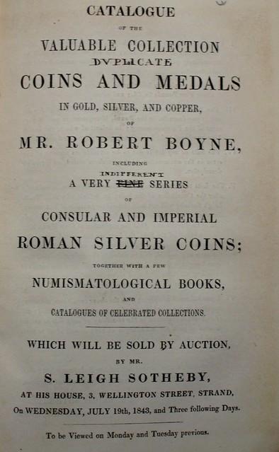 Boyne Sotheby 1843