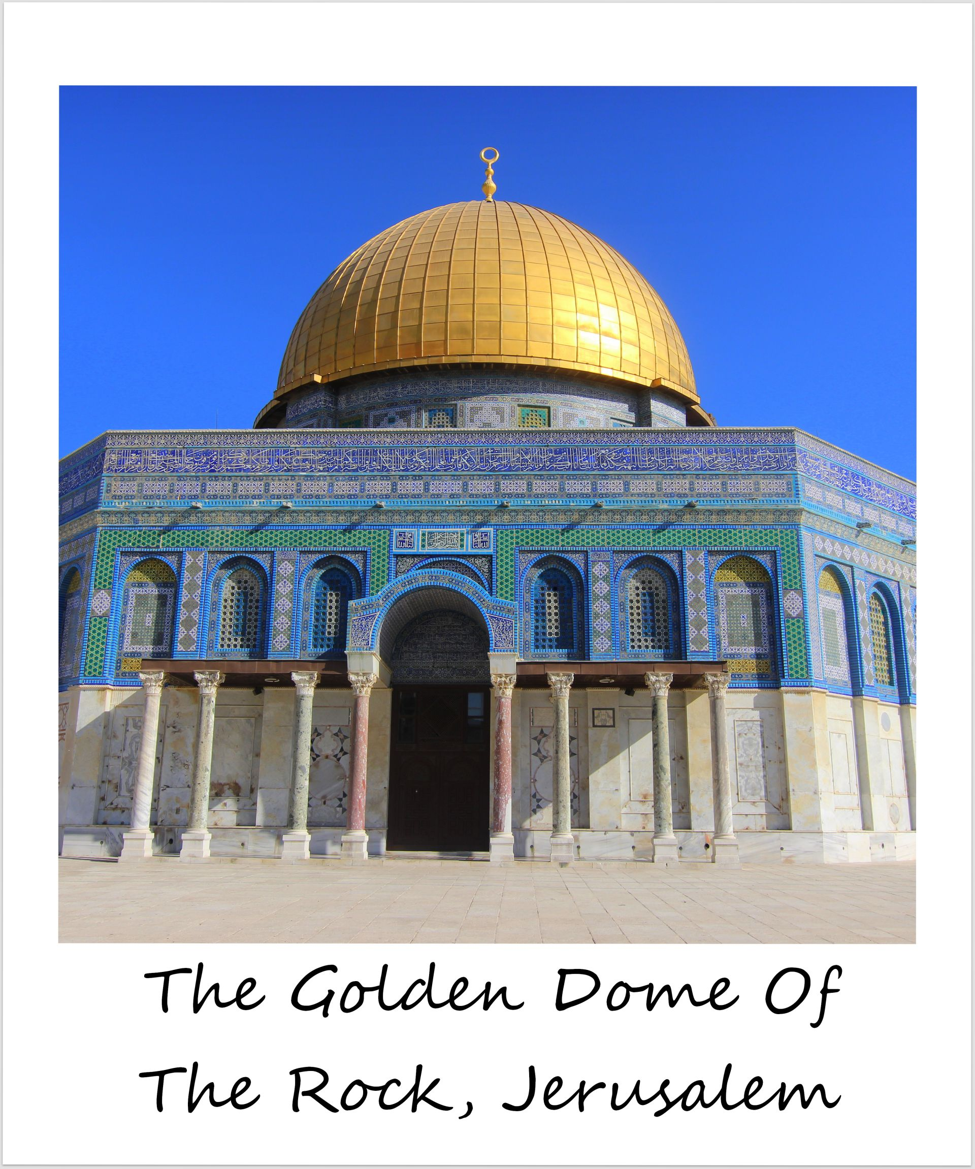 polaroid of the week israel jerusalem golden dome of the rock