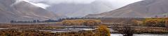 Misty golden Ahurini river valley