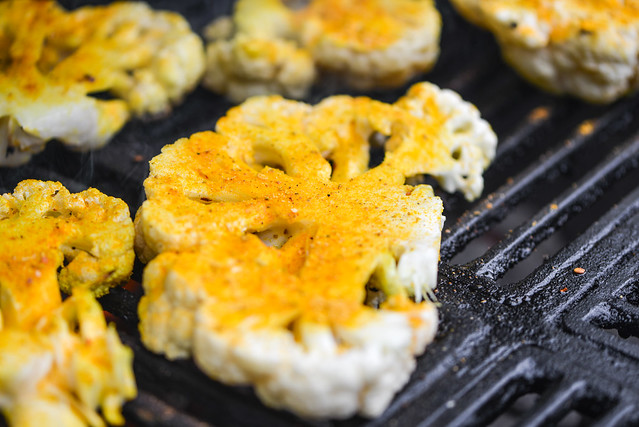 Grilled Spiced Cauliflower
