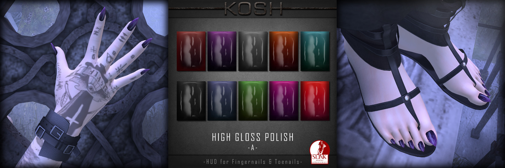 KOSH- HIGH GLOSS POLISH NAILS VPIC