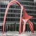 Small photo of Alexander Calder, Flamingo, Chicago