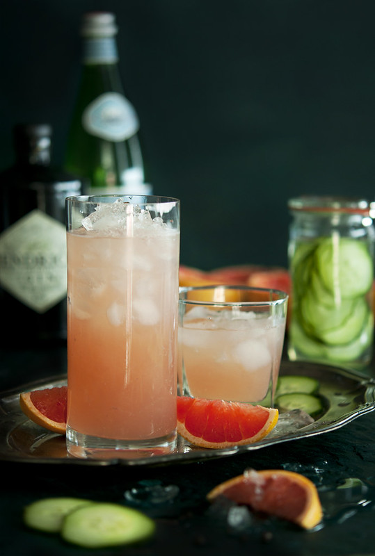 Gin Fizz – Cucumber-Infused and Grapefruit, Black Pepper