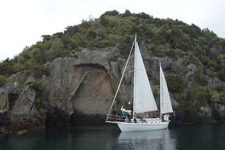 Relevos Maori no Lago Taupo