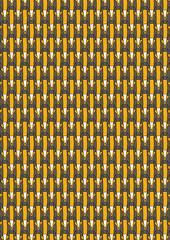 fox pattern black ocre A3