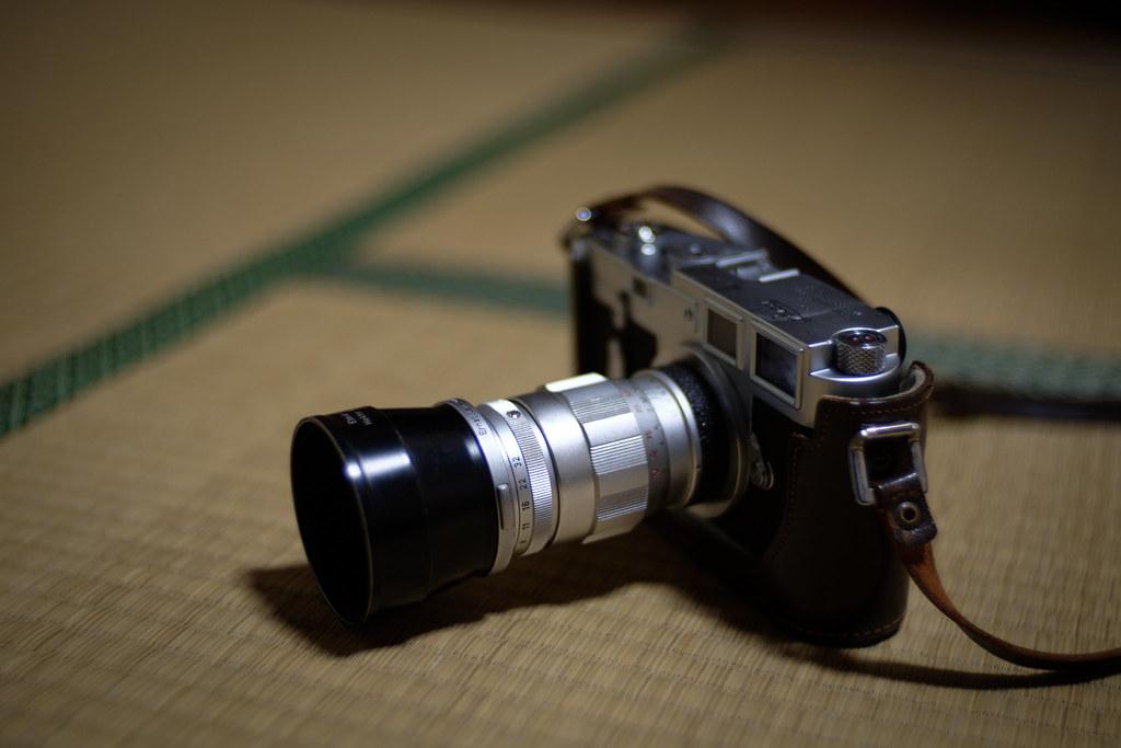 Leica M3 and Elmar f=9cm 1:4 (triplet)