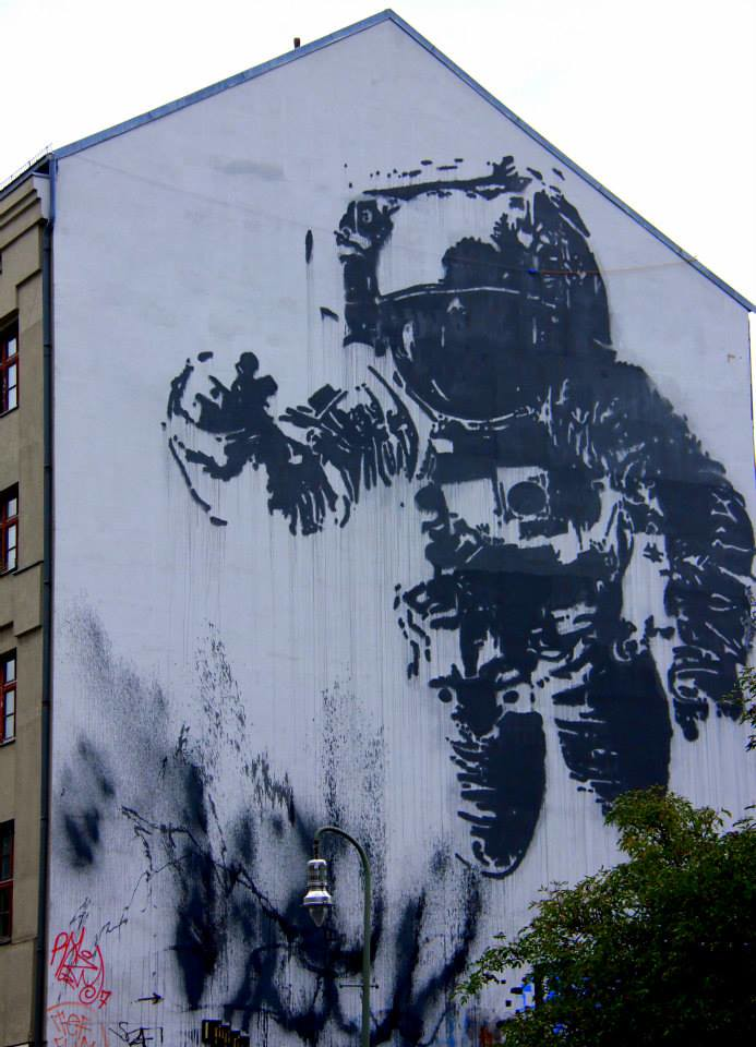 Berlin street art's most famous piece is this larger than life astronaut
