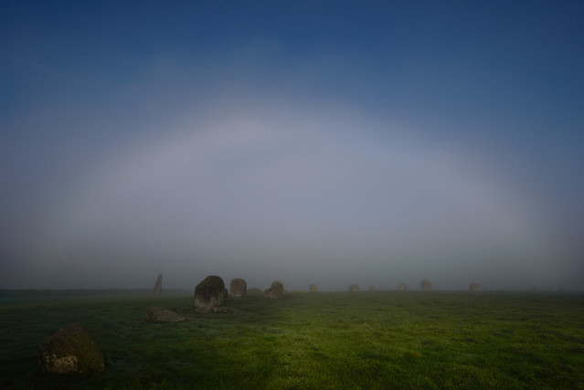 Fogbow over Long Meg, Nikon D610, AF-S Nikkor 18-35mm f/3.5-4.5G ED